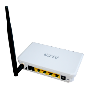 Thumbnail for the ALFA Network AIP-W505 router with 300mbps WiFi, 4 100mbps ETH-ports and                                          0 USB-ports