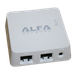 The ALFA Network AIP-W512 router has 300mbps WiFi, 1 100mbps ETH-ports and 0 USB-ports.