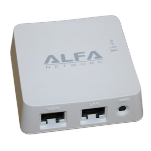 Thumbnail for the ALFA Network AIP-W512 router with 300mbps WiFi, 1 100mbps ETH-ports and                                          0 USB-ports