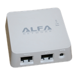 The ALFA Network AIP-W512 router with 300mbps WiFi, 1 100mbps ETH-ports and                                                  0 USB-ports