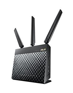 Thumbnail for the ASUS 4G-AC55U router with Gigabit WiFi, 4 Gigabit ETH-ports and                                          0 USB-ports