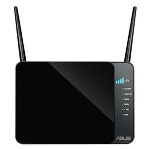Thumbnail for the ASUS 4G-N12 router with 300mbps WiFi, 4 100mbps ETH-ports and                                          0 USB-ports