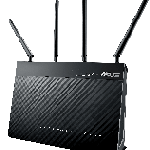 The ASUS DSL-AC87VG router with Gigabit WiFi, 4 Gigabit ETH-ports and                                              0 USB-ports