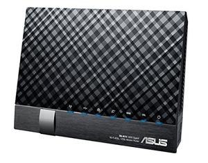 Thumbnail for the ASUS DSL-N17U B1 router with 300mbps WiFi, 4 Gigabit ETH-ports and                                          0 USB-ports
