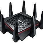 The ASUS GT-AC9600 router with Gigabit WiFi, 8 Gigabit ETH-ports and                                                  0 USB-ports