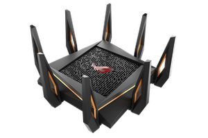 Thumbnail for the ASUS GT-AX11000 router with Gigabit WiFi, 4 N/A ETH-ports and                                          0 USB-ports