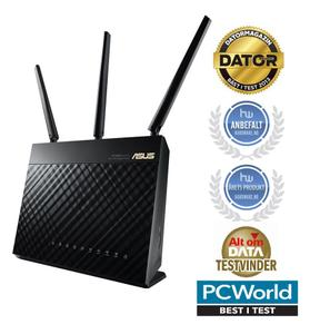 Thumbnail for the ASUS RT-AC1900 router with Gigabit WiFi, 4 Gigabit ETH-ports and                                          0 USB-ports