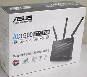 Thumbnail for the ASUS RT-AC1900P router with Gigabit WiFi, 4 Gigabit ETH-ports and                                          0 USB-ports