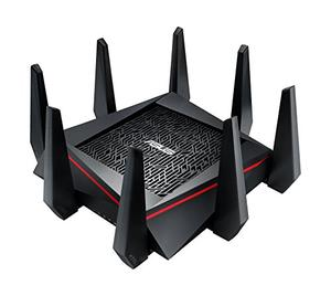 Thumbnail for the ASUS RT-AC5300 router with Gigabit WiFi, 4 Gigabit ETH-ports and                                          0 USB-ports