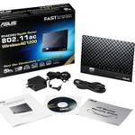 The ASUS RT-AC56U router with Gigabit WiFi, 4 N/A ETH-ports and                                                  0 USB-ports