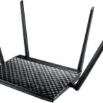 The ASUS RT-AC57U router with Gigabit WiFi, 4 Gigabit ETH-ports and                                              0 USB-ports