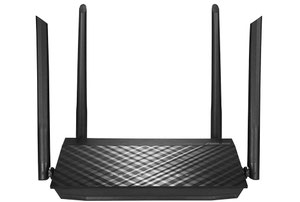 Thumbnail for the ASUS RT-AC59U router with Gigabit WiFi, 4 N/A ETH-ports and                                          0 USB-ports