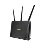 The ASUS RT-AC85P router with Gigabit WiFi, 4 Gigabit ETH-ports and                                                  0 USB-ports