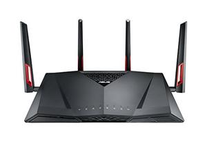 Thumbnail for the ASUS RT-AC88U router with Gigabit WiFi, 8 N/A ETH-ports and                                          0 USB-ports