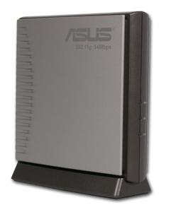 Thumbnail for the ASUS WL-300g router with 54mbps WiFi, 1 100mbps ETH-ports and                                          0 USB-ports