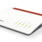 The AVM FRITZ!Box 7590 router with Gigabit WiFi, 4 Gigabit ETH-ports and                                                  0 USB-ports