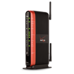 The Actiontec MI424WR rev I router with 300mbps WiFi, 4 N/A ETH-ports and                                                  0 USB-ports