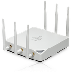 The Aerohive HiveAP 350 router with 300mbps WiFi, 2 Gigabit ETH-ports and                                              0 USB-ports