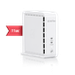 The AirTies Air 4930 router has Gigabit WiFi, 2 Gigabit ETH-ports and 0 USB-ports. It has a total combined WiFi throughput of 2500 Mpbs.