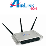 The Airlink101 AR525W router with 54mbps WiFi, 4 100mbps ETH-ports and                                              0 USB-ports