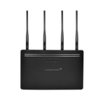 The Amped Wireless RE2600M router with Gigabit WiFi, 4 N/A ETH-ports and                                                  0 USB-ports