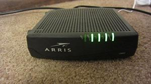 Thumbnail for the Arris CM820A router with No WiFi, 1 Gigabit ETH-ports and                                          0 USB-ports