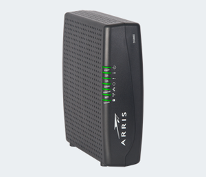 Thumbnail for the Arris DG860P2 router with 300mbps WiFi, 4 Gigabit ETH-ports and                                          0 USB-ports