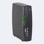 The Arris DG860P2 router with 300mbps WiFi, 4 Gigabit ETH-ports and                                              0 USB-ports