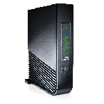 The Arris NVG448BQ router with Gigabit WiFi, 4 N/A ETH-ports and                                                  0 USB-ports