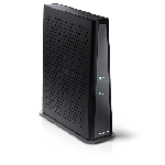 The Arris TG3442 router with Gigabit WiFi, 4 N/A ETH-ports and                                                  0 USB-ports