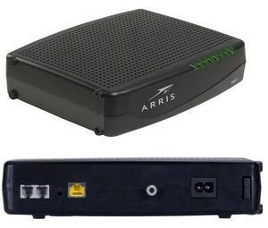 Thumbnail for the Arris TM1602A router with No WiFi, 1 Gigabit ETH-ports and                                          0 USB-ports