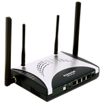 The Axesstel MV440 router with 54mbps WiFi, 4 100mbps ETH-ports and                                                  0 USB-ports