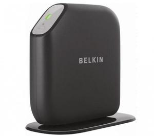 Thumbnail for the Belkin F7D2401 router with 300mbps WiFi, 4 100mbps ETH-ports and                                          0 USB-ports