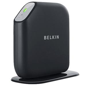 Thumbnail for the Belkin F7D4401 router with 300mbps WiFi, 4 Gigabit ETH-ports and                                          0 USB-ports
