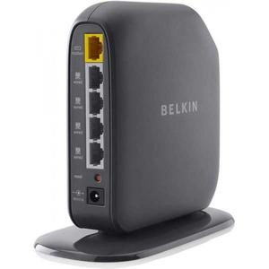Thumbnail for the Belkin F7D6301 v3 router with 300mbps WiFi, 4 100mbps ETH-ports and                                          0 USB-ports