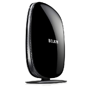 Thumbnail for the Belkin F9K1104 router with 300mbps WiFi, 4 Gigabit ETH-ports and                                          0 USB-ports
