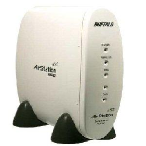 Thumbnail for the Buffalo WBR-G54 router with 54mbps WiFi, 4 100mbps ETH-ports and                                          0 USB-ports