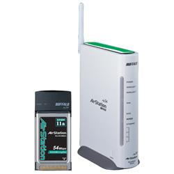 Thumbnail for the Buffalo WER-AM54G54 router with 54mbps WiFi,  100mbps ETH-ports and                                          0 USB-ports