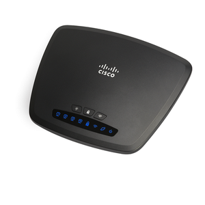 Thumbnail for the Cisco CVR100W router with 300mbps WiFi, 4 100mbps ETH-ports and                                          0 USB-ports