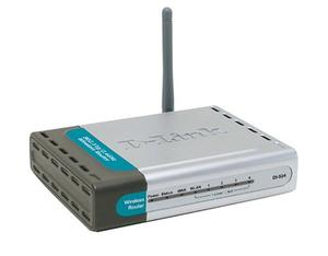 Thumbnail for the D-Link DI-524 rev I1 router with 300mbps WiFi, 4 100mbps ETH-ports and                                          0 USB-ports