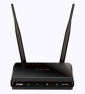 Thumbnail for the D-Link DIR-1360 rev A1 router with Gigabit WiFi, 4 Gigabit ETH-ports and                                          0 USB-ports
