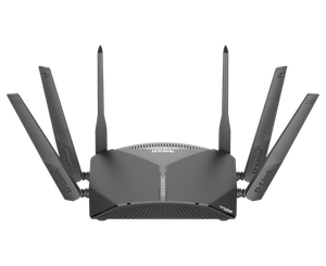 Thumbnail for the D-Link DIR-3060 rev A1 router with Gigabit WiFi, 4 Gigabit ETH-ports and                                          0 USB-ports