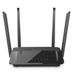 The D-Link DIR-822 rev D1 router with Gigabit WiFi, 4 100mbps ETH-ports and                                                  0 USB-ports