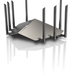The D-Link DIR-X9000 router with Gigabit WiFi, 4 N/A ETH-ports and                                                  0 USB-ports