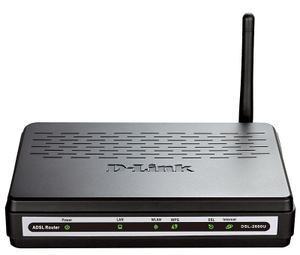 Thumbnail for the D-Link DSL-2600U router with 54mbps WiFi, 1 100mbps ETH-ports and                                          0 USB-ports