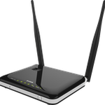 The D-Link DWR-118 rev A1 router with Gigabit WiFi, 4 100mbps ETH-ports and                                              0 USB-ports