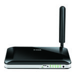 The D-Link DWR-755 rev A1 router with 300mbps WiFi, 4 100mbps ETH-ports and                                                  0 USB-ports
