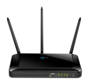 Thumbnail for the D-Link DWR-961 rev C1 router with Gigabit WiFi, 4 100mbps ETH-ports and                                          0 USB-ports