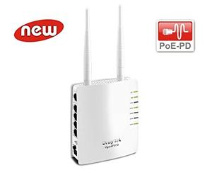 Thumbnail for the DrayTek VigorAP 810 router with 300mbps WiFi, 5 100mbps ETH-ports and                                          0 USB-ports