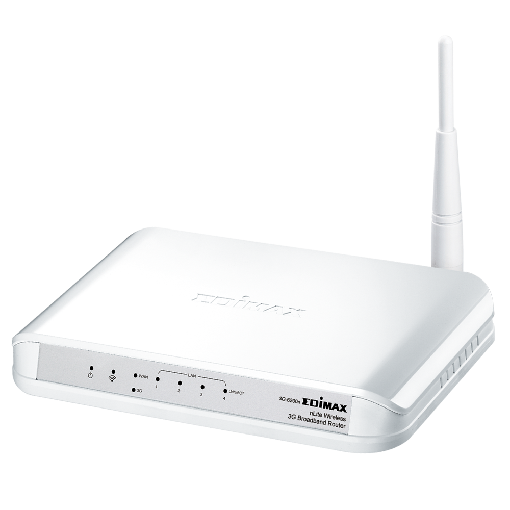 The Edimax 3G-6200n router with 300mbps WiFi, 4 100mbps ETH-ports and